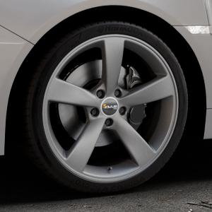 AVUS Racing AF10 MATT ANTHRACITE Felge mit Reifen grau anthrazit in 19Zoll Winterfelge Alufelge auf silbernem Subaru WRX Typ V1 Model 2018 ⬇️ mit 15mm Tieferlegung ⬇️ Industriehalle 1 Thumbnail