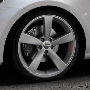 AVUS Racing AF10 MATT ANTHRACITE Felge mit Reifen grau anthrazit in 19Zoll Winterfelge Alufelge auf silbernem Volkswagen (VW) Golf 7 ⬇️ mit 15mm Tieferlegung ⬇️ Industriehalle 1 Thumbnail