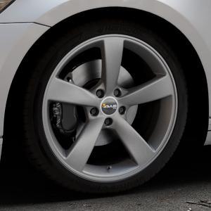 AVUS Racing AF10 MATT ANTHRACITE Felge mit Reifen grau anthrazit in 19Zoll Winterfelge Alufelge auf silbernem Volkswagen (VW) Passat 3C/B8 Limousine Variant ⬇️ mit 15mm Tieferlegung ⬇️ Industriehalle 1 Thumbnail