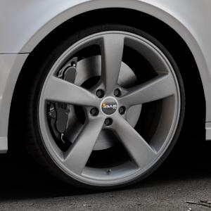 AVUS Racing AF10 MATT ANTHRACITE Felge mit Reifen grau anthrazit in 20Zoll Winterfelge Alufelge auf silbernem Audi A3 Typ 8V (Limousine) Facelift ⬇️ mit 15mm Tieferlegung ⬇️ Industriehalle 1 Thumbnail
