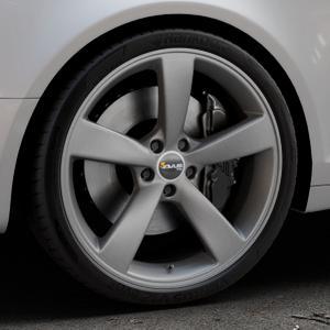 AVUS Racing AF10 MATT ANTHRACITE Felge mit Reifen grau anthrazit in 20Zoll Winterfelge Alufelge auf silbernem Audi A6 Typ 4F/C6 (Avant) ⬇️ mit 15mm Tieferlegung ⬇️ Industriehalle 1 Thumbnail