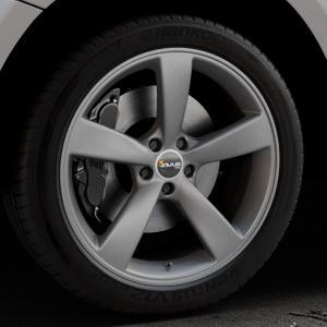 AVUS Racing AF10 MATT ANTHRACITE Felge mit Reifen grau anthrazit in 20Zoll Winterfelge Alufelge auf silbernem Audi Q5 I Typ 8R ⬇️ mit 15mm Tieferlegung ⬇️ Industriehalle 1 Thumbnail