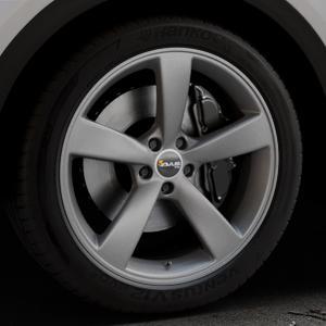 AVUS Racing AF10 MATT ANTHRACITE Felge mit Reifen grau anthrazit in 20Zoll Winterfelge Alufelge auf silbernem Audi Q5 II Typ FY ⬇️ mit 15mm Tieferlegung ⬇️ Industriehalle 1 Thumbnail