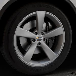 AVUS Racing AF10 MATT ANTHRACITE Felge mit Reifen grau anthrazit in 20Zoll Winterfelge Alufelge auf silbernem Mercedes GLE-Klasse Coupe Typ x166 ⬇️ mit 15mm Tieferlegung ⬇️ Industriehalle 1 Thumbnail