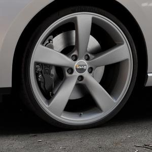 AVUS Racing AF10 MATT ANTHRACITE Felge mit Reifen grau anthrazit in 20Zoll Winterfelge Alufelge auf silbernem Seat Leon Typ 5F ST Facelift ⬇️ mit 15mm Tieferlegung ⬇️ Industriehalle 1 Thumbnail