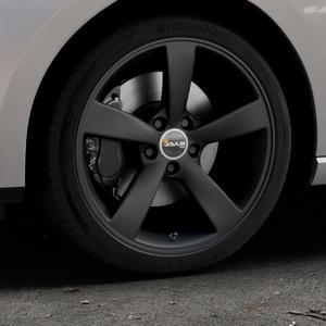 AVUS Racing AF10 MATT BLACK Felge mit Reifen schwarz in 18Zoll Winterfelge Alufelge auf silbernem Seat Leon Typ 5F ST Facelift ⬇️ mit 15mm Tieferlegung ⬇️ Industriehalle 1 Thumbnail