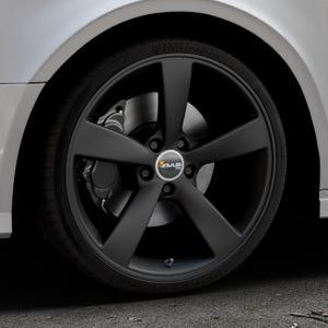 AVUS Racing AF10 MATT BLACK Felge mit Reifen schwarz in 19Zoll Winterfelge Alufelge auf silbernem Audi A3 Typ 8V (Limousine) Facelift ⬇️ mit 15mm Tieferlegung ⬇️ Industriehalle 1 Thumbnail