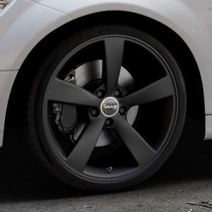 AVUS Racing AF10 MATT BLACK Felge mit Reifen schwarz in 19Zoll Winterfelge Alufelge auf silbernem Mercedes C-Klasse Typ W204 Limousine ⬇️ mit 15mm Tieferlegung ⬇️ Industriehalle 1 Thumbnail