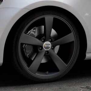 AVUS Racing AF10 MATT BLACK Felge mit Reifen schwarz in 19Zoll Winterfelge Alufelge auf silbernem Volkswagen (VW) Golf 7 ⬇️ mit 15mm Tieferlegung ⬇️ Industriehalle 1 Thumbnail