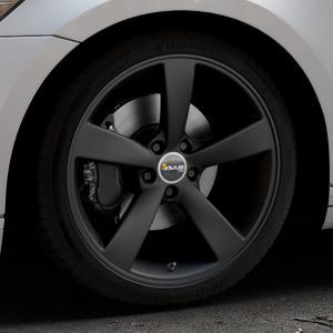 AVUS Racing AF10 MATT BLACK Felge mit Reifen schwarz in 19Zoll Winterfelge Alufelge auf silbernem Volkswagen (VW) Passat 3C/B8 Limousine Variant ⬇️ mit 15mm Tieferlegung ⬇️ Industriehalle 1 Thumbnail