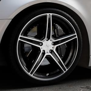 AXXION AX7 Schwarz Hochglanzpoliert Felge mit Reifen silber mehrfarbig in 20Zoll Alufelge auf silbernem Audi A6 Typ 4G/C7 (Avant) ⬇️ mit 15mm Tieferlegung ⬇️ Industriehalle 1 Thumbnail