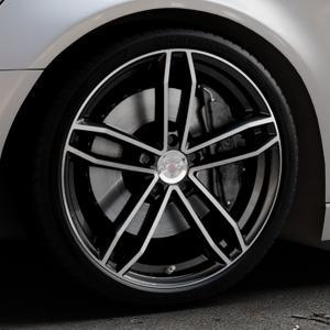 AXXION AX8 Schwarz Hochglanzpoliert Felge mit Reifen silber mehrfarbig in 20Zoll Alufelge auf silbernem Audi A6 Typ 4G/C7 (Avant) ⬇️ mit 15mm Tieferlegung ⬇️ Industriehalle 1 Thumbnail