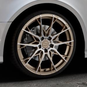 B52-Wheels X1 Bronze matt full machined Felge mit Reifen in 19Zoll Alufelge auf silbernem Audi A3 Typ 8V (Limousine) Facelift ⬇️ mit 15mm Tieferlegung ⬇️ Industriehalle 1 Thumbnail