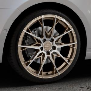 B52-Wheels X1 Bronze matt full machined Felge mit Reifen in 19Zoll Alufelge auf silbernem Skoda Octavia III Kombi Typ 5E ⬇️ mit 15mm Tieferlegung ⬇️ Industriehalle 1 Thumbnail