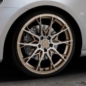 B52-Wheels X1 Bronze matt full machined Felge mit Reifen in 19Zoll Alufelge auf silbernem Volkswagen (VW) Golf 7 ⬇️ mit 15mm Tieferlegung ⬇️ Industriehalle 1 Thumbnail
