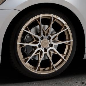 B52-Wheels X1 Bronze matt full machined Felge mit Reifen in 19Zoll Alufelge auf silbernem Volkswagen (VW) Passat 3C/B8 Limousine Variant ⬇️ mit 15mm Tieferlegung ⬇️ Industriehalle 1 Thumbnail