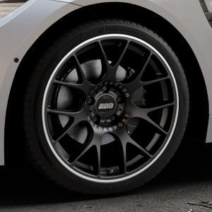 BBS CH-R schwarz matt Felge mit Reifen in 19Zoll Winterfelge Alufelge auf silbernem BMW M4 Typ F82 GTS 3,0l 368kW (500 PS) ⬇️ mit 15mm Tieferlegung ⬇️ Industriehalle 1 Thumbnail