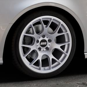 BBS CH-R titan matt Felge mit Reifen grau in 18Zoll Winterfelge Alufelge auf silbernem Audi A3 Typ 8V (Cabriolet) ⬇️ mit 15mm Tieferlegung ⬇️ Industriehalle 1 Thumbnail