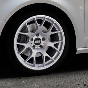 BBS CH-R titan matt Felge mit Reifen grau in 18Zoll Winterfelge Alufelge auf silbernem Audi A3 Typ 8V ⬇️ mit 15mm Tieferlegung ⬇️ Industriehalle 1 Thumbnail