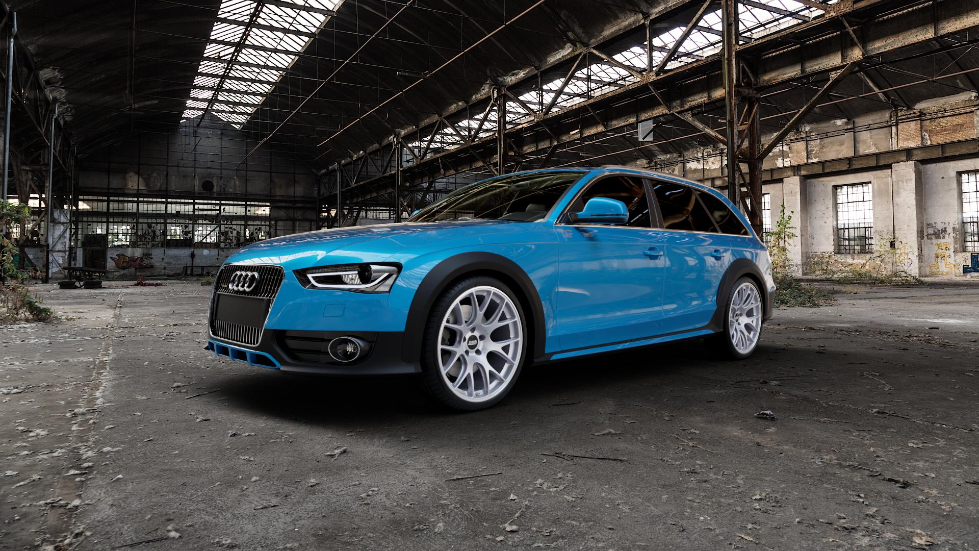 BBS CH-R titan matt Felge mit Reifen grau in 20Zoll Winterfelge Alufelge auf hellblau Audi A4 Typ 8KH/B8 Allroad ⬇️ mit 15mm Tieferlegung ⬇️ Industriehalle 1 Camera_000