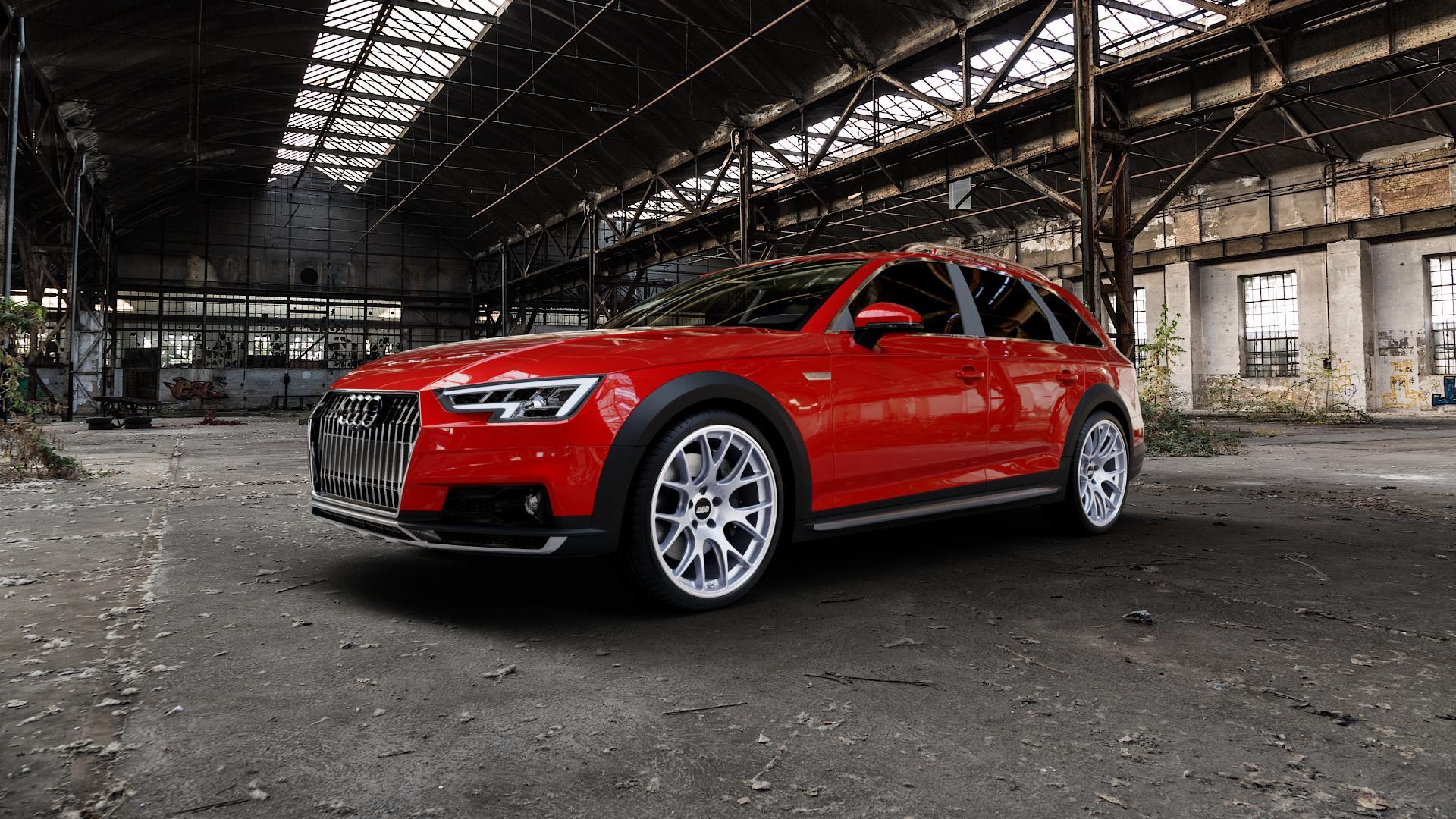 BBS CH-R titan matt Felge mit Reifen grau in 20Zoll Winterfelge Alufelge auf rotem Audi A4 Typ B9 Allroad ⬇️ mit 15mm Tieferlegung ⬇️ Industriehalle 1 Camera_000