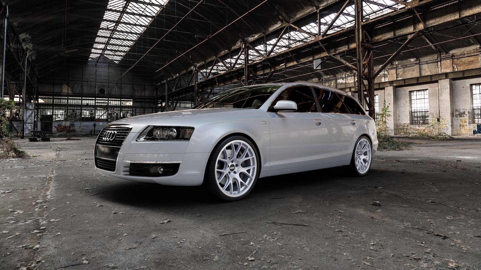 BBS CH-R titan matt Felge mit Reifen grau in 20Zoll Winterfelge Alufelge auf silbernem Audi A6 Typ 4F/C6 (Avant) ⬇️ mit 15mm Tieferlegung ⬇️ Industriehalle 1 Camera_000