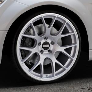 BBS CH-R titan matt Felge mit Reifen grau in 20Zoll Winterfelge Alufelge auf silbernem Mercedes C-Klasse Typ W204 Limousine ⬇️ mit 15mm Tieferlegung ⬇️ Industriehalle 1 Thumbnail