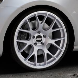 BBS CH-R titan matt Felge mit Reifen grau in 20Zoll Winterfelge Alufelge auf silbernem Volkswagen (VW) Golf 7 ⬇️ mit 15mm Tieferlegung ⬇️ Industriehalle 1 Thumbnail
