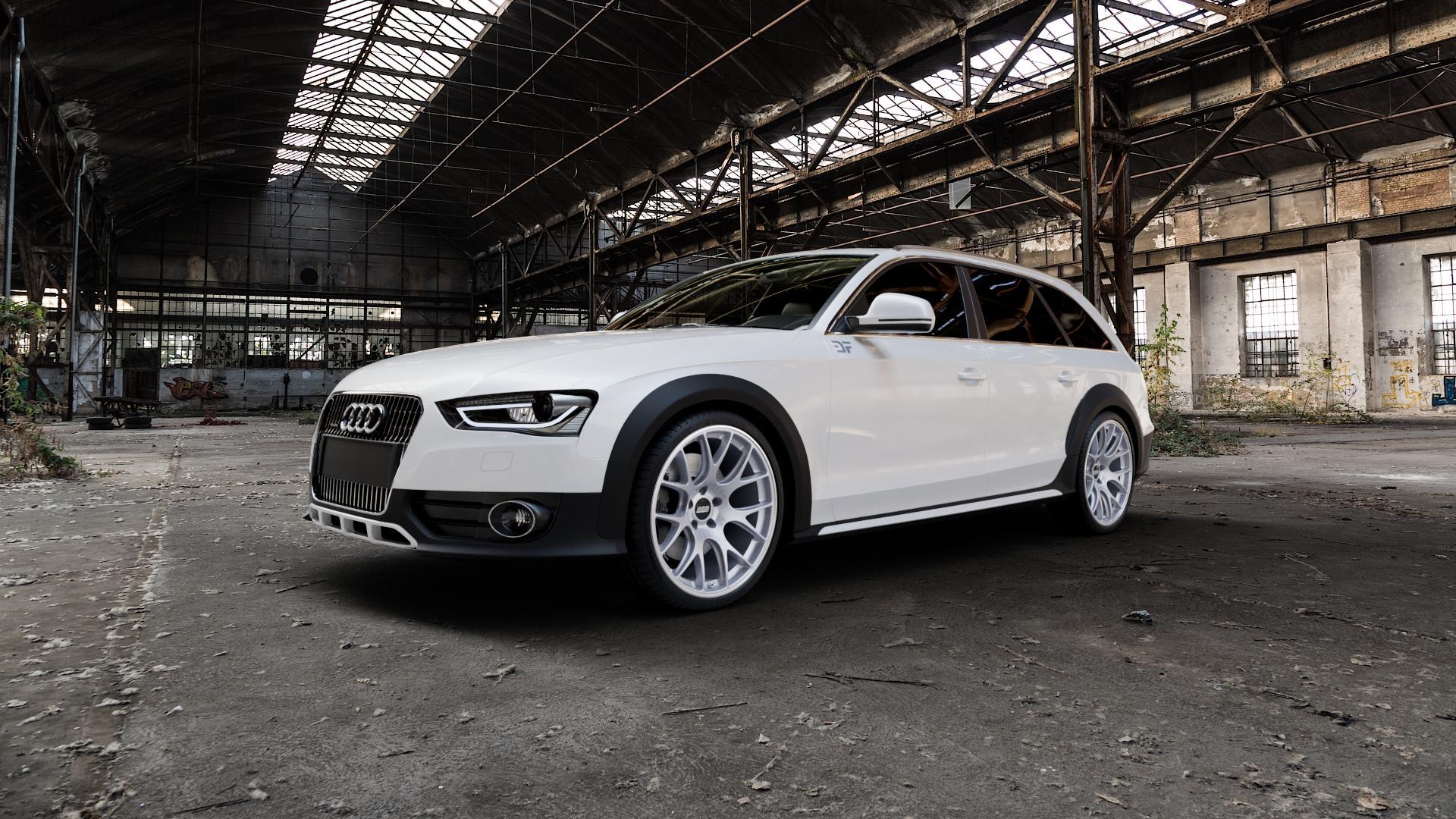 BBS CH-R titan matt Felge mit Reifen grau in 20Zoll Winterfelge Alufelge auf weissem Audi A4 Typ 8KH/B8 Allroad ⬇️ mit 15mm Tieferlegung ⬇️ Industriehalle 1 Camera_000