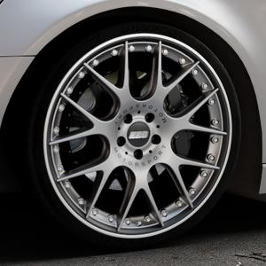 BBS CH-RII platinum/schwarz Felge mit Reifen Titan mehrfarbig in 21Zoll Winterfelge Alufelge auf silbernem Audi A6 Typ 4G/C7 (Avant) ⬇️ mit 15mm Tieferlegung ⬇️ Industriehalle 1 Thumbnail