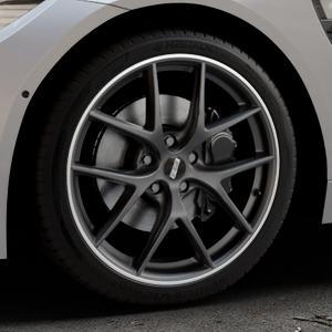BBS CI-R schwarz matt Felge mit Reifen in 19Zoll Winterfelge Alufelge auf silbernem BMW M4 Typ F82 GTS 3,0l 368kW (500 PS) ⬇️ mit 15mm Tieferlegung ⬇️ Industriehalle 1 Thumbnail