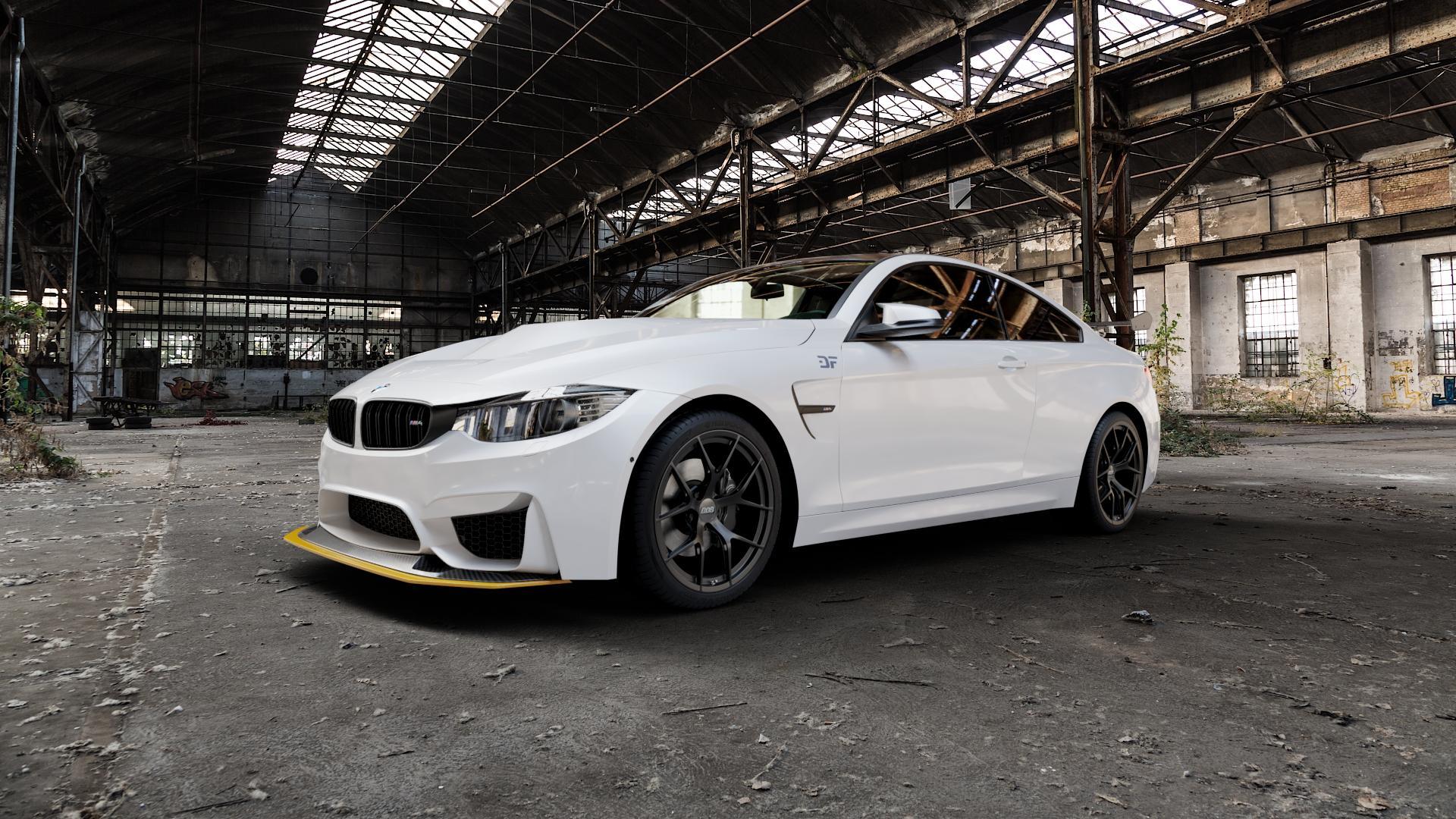 BBS FI-R schwarz matt Felge mit Reifen in 19Zoll Winterfelge Alufelge auf weissem BMW M4 Typ F82 GTS 3,0l 368kW (500 PS) ⬇️ mit 15mm Tieferlegung ⬇️ Industriehalle 1 Camera_000
