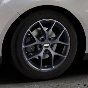 BBS SR himalaya-grau matt Felge mit Reifen in 16Zoll Winterfelge Alufelge auf silbernem Ford Focus III Typ DYB Facelift (Turnier) ⬇️ mit 15mm Tieferlegung ⬇️ Industriehalle 1 Thumbnail