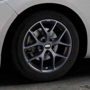 BBS SR himalaya-grau matt Felge mit Reifen in 16Zoll Winterfelge Alufelge auf silbernem Ford Mondeo IV Limousine Typ BA7 Turnier Fließheck ⬇️ mit 15mm Tieferlegung ⬇️ Industriehalle 1 Thumbnail