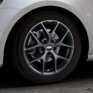 BBS SR himalaya-grau matt Felge mit Reifen in 16Zoll Winterfelge Alufelge auf silbernem Volkswagen (VW) Golf 7 ⬇️ mit 15mm Tieferlegung ⬇️ Industriehalle 1 Thumbnail