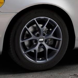 BBS SR himalaya-grau matt Felge mit Reifen in 16Zoll Winterfelge Alufelge auf silbernem Volvo C70 II Cabriolet Typ M ⬇️ mit 15mm Tieferlegung ⬇️ Industriehalle 1 Thumbnail