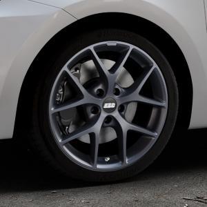 BBS SR himalaya-grau matt Felge mit Reifen in 17Zoll Winterfelge Alufelge auf silbernem Suzuki Swift VI Typ AZ ⬇️ mit 15mm Tieferlegung ⬇️ Industriehalle 1 Thumbnail