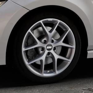 BBS SR himalaya-grau matt Felge mit Reifen in 17Zoll Winterfelge Alufelge auf silbernem Volkswagen (VW) Polo VI Typ AW ⬇️ mit 15mm Tieferlegung ⬇️ Industriehalle 1 Thumbnail