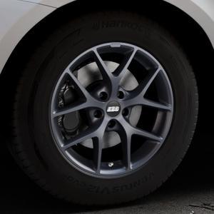 BBS SR himalaya-grau matt Felge mit Reifen in 17Zoll Winterfelge Alufelge auf silbernem Volvo XC60 Typ D Facelift ⬇️ mit 15mm Tieferlegung ⬇️ Industriehalle 1 Thumbnail