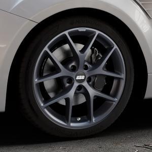 BBS SR himalaya-grau matt Felge mit Reifen in 18Zoll Winterfelge Alufelge auf silbernem Ford Focus II Typ DA3 (Schrägheck) 2,5l RS 224kW (305 PS) RS500 257kW (349 ⬇️ mit 15mm Tieferlegung ⬇️ Industriehalle 1 Thumbnail