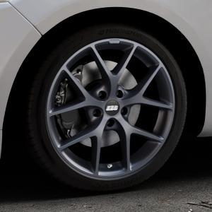 BBS SR himalaya-grau matt Felge mit Reifen in 18Zoll Winterfelge Alufelge auf silbernem Ford Mondeo IV Limousine Typ BA7 Turnier Fließheck ⬇️ mit 15mm Tieferlegung ⬇️ Industriehalle 1 Thumbnail
