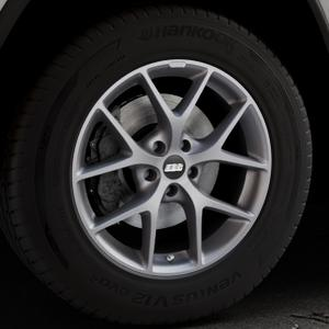 BBS SR himalaya-grau matt Felge mit Reifen in 18Zoll Winterfelge Alufelge auf silbernem Jeep Grand Cherokee IV Typ WK ⬇️ mit 15mm Tieferlegung ⬇️ Industriehalle 1 Thumbnail