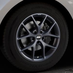BBS SR himalaya-grau matt Felge mit Reifen in 18Zoll Winterfelge Alufelge auf silbernem Land Rover Range Velar Typ LY ⬇️ mit 15mm Tieferlegung ⬇️ Industriehalle 1 Thumbnail