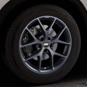BBS SR himalaya-grau matt Felge mit Reifen in 18Zoll Winterfelge Alufelge auf silbernem Mazda CX-5 Typ KF ⬇️ mit 15mm Tieferlegung ⬇️ Industriehalle 1 Thumbnail