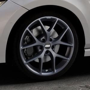 BBS SR himalaya-grau matt Felge mit Reifen in 18Zoll Winterfelge Alufelge auf silbernem Volkswagen (VW) Polo VI Typ AW ⬇️ mit 15mm Tieferlegung ⬇️ Industriehalle 1 Thumbnail