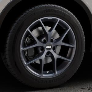 BBS SR himalaya-grau matt Felge mit Reifen in 18Zoll Winterfelge Alufelge auf silbernem Volvo XC40 Typ X ⬇️ mit 15mm Tieferlegung ⬇️ Industriehalle 1 Thumbnail