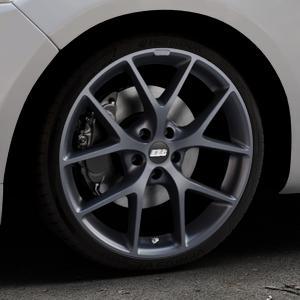 BBS SR himalaya-grau matt Felge mit Reifen in 19Zoll Winterfelge Alufelge auf silbernem Ford Mondeo IV Limousine Typ BA7 Turnier Fließheck ⬇️ mit 15mm Tieferlegung ⬇️ Industriehalle 1 Thumbnail