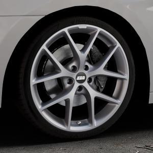 BBS SR himalaya-grau matt Felge mit Reifen in 19Zoll Winterfelge Alufelge auf silbernem Hyundai i40 Typ VF Limousine Kombi Facelift ⬇️ mit 15mm Tieferlegung ⬇️ Industriehalle 1 Thumbnail