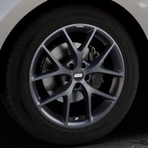 BBS SR himalaya-grau matt Felge mit Reifen in 19Zoll Winterfelge Alufelge auf silbernem Land Rover Range Velar Typ LY ⬇️ mit 15mm Tieferlegung ⬇️ Industriehalle 1 Thumbnail