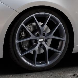 BBS SR himalaya-grau matt Felge mit Reifen in 19Zoll Winterfelge Alufelge auf silbernem Peugeot 308 II Typ L Facelift ⬇️ mit 15mm Tieferlegung ⬇️ Industriehalle 1 Thumbnail